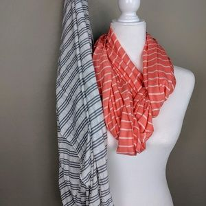 Bundle of 2 Charming Charlie Infinity Scarves